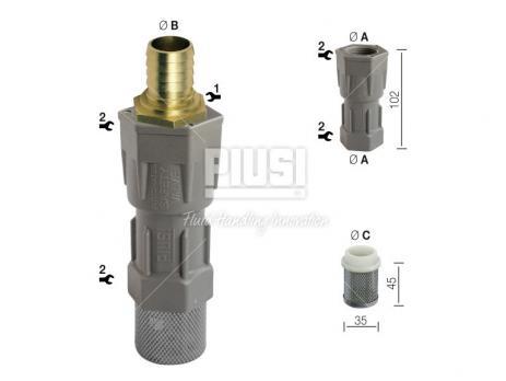 Обратный клапан с донным фильтром